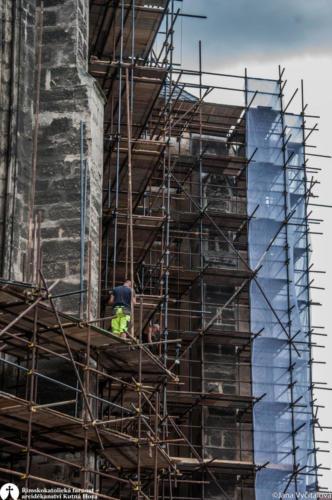 Obnova kostela sv. Jakuba - stavba lešení