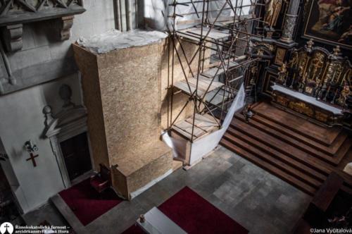 Obnova kostela sv. Jakuba - práce v interiéru
