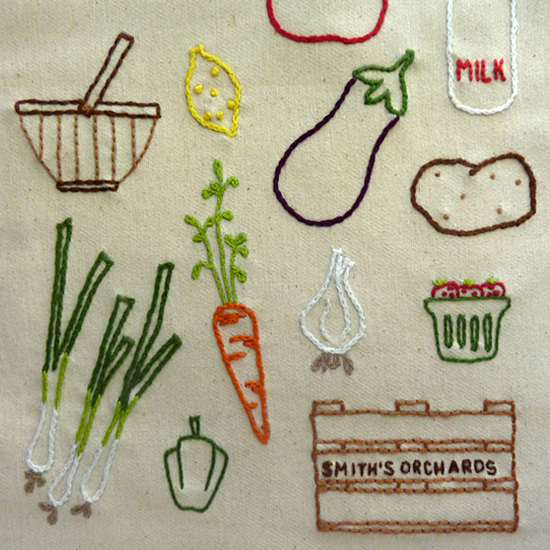 Farmers Market Embroidery Pattern, Classic Series