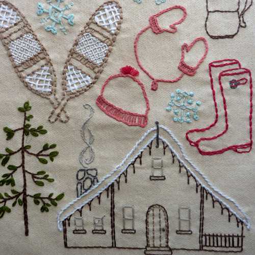 Into the Winter Woods Embroidery Pattern, Classic Series