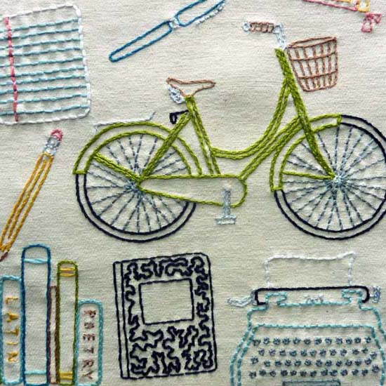 Off to College Embroidery Pattern, Classic Series