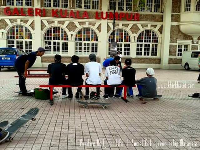 Skateboarders in Kuala Lumpur