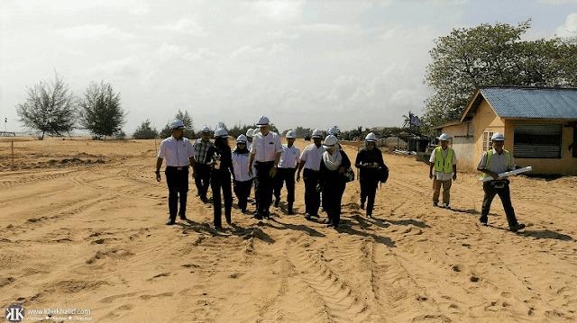 Projek jalan baru Lapangan Terbang Sultan Mahmud, Kuala Terengganu.