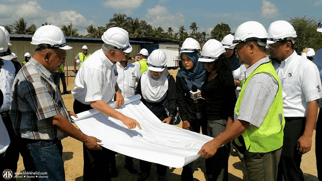Jalan Lapangan Terbang Sultan Makmud Kuala Terengganu ke jambatan baru KTCC Drawbridge.