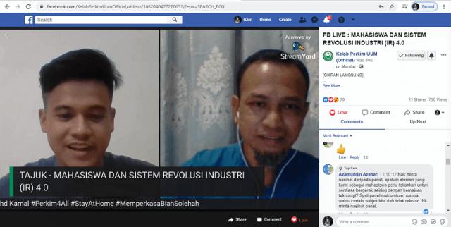 Fb Live Mahasiswa Dan Sistem Revolusi Industri 4.0 (IR 4.0)