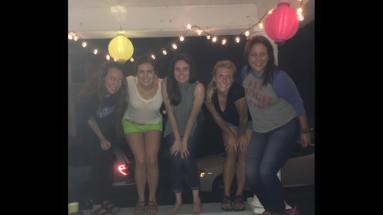 This picture is from when I was homeless in BG opening weekend. My best friends have a great porch, though.
