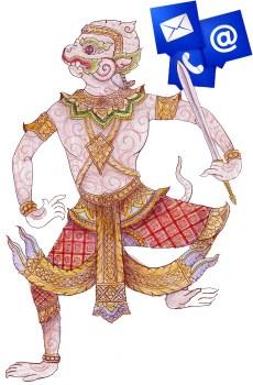 Hanuman color contact