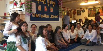 Photo: Cambodians in Norway at Khmer Buddhist Center, November 2019
