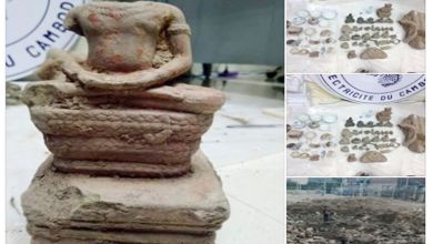 Photo of Several ancient artefacts discovered near Wat Phnom