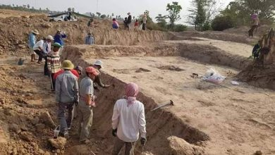 Photo of Graves of Funan Found in Prey Veng