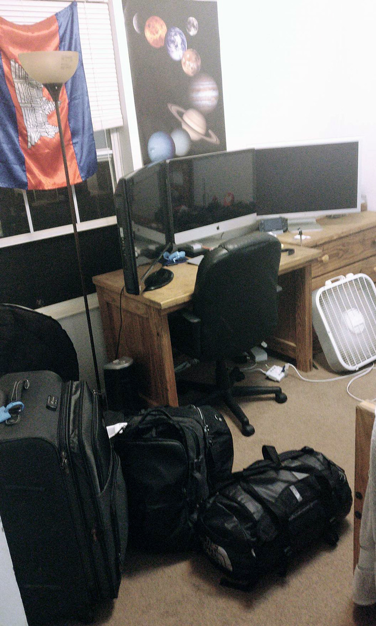 Finally, after 50+ hours, I arrived home. Room sweet room in Ohio. Ready to go back to school!