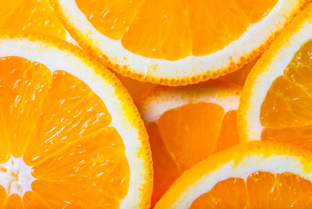 Close up of orange slices