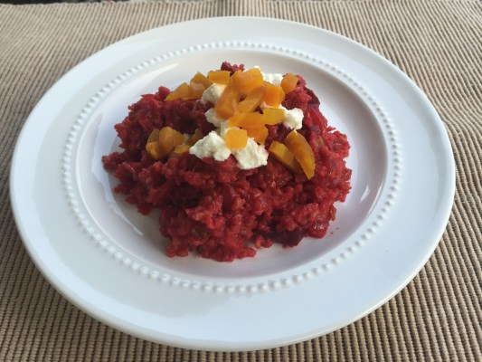 Red Beet Freekeh Risotto