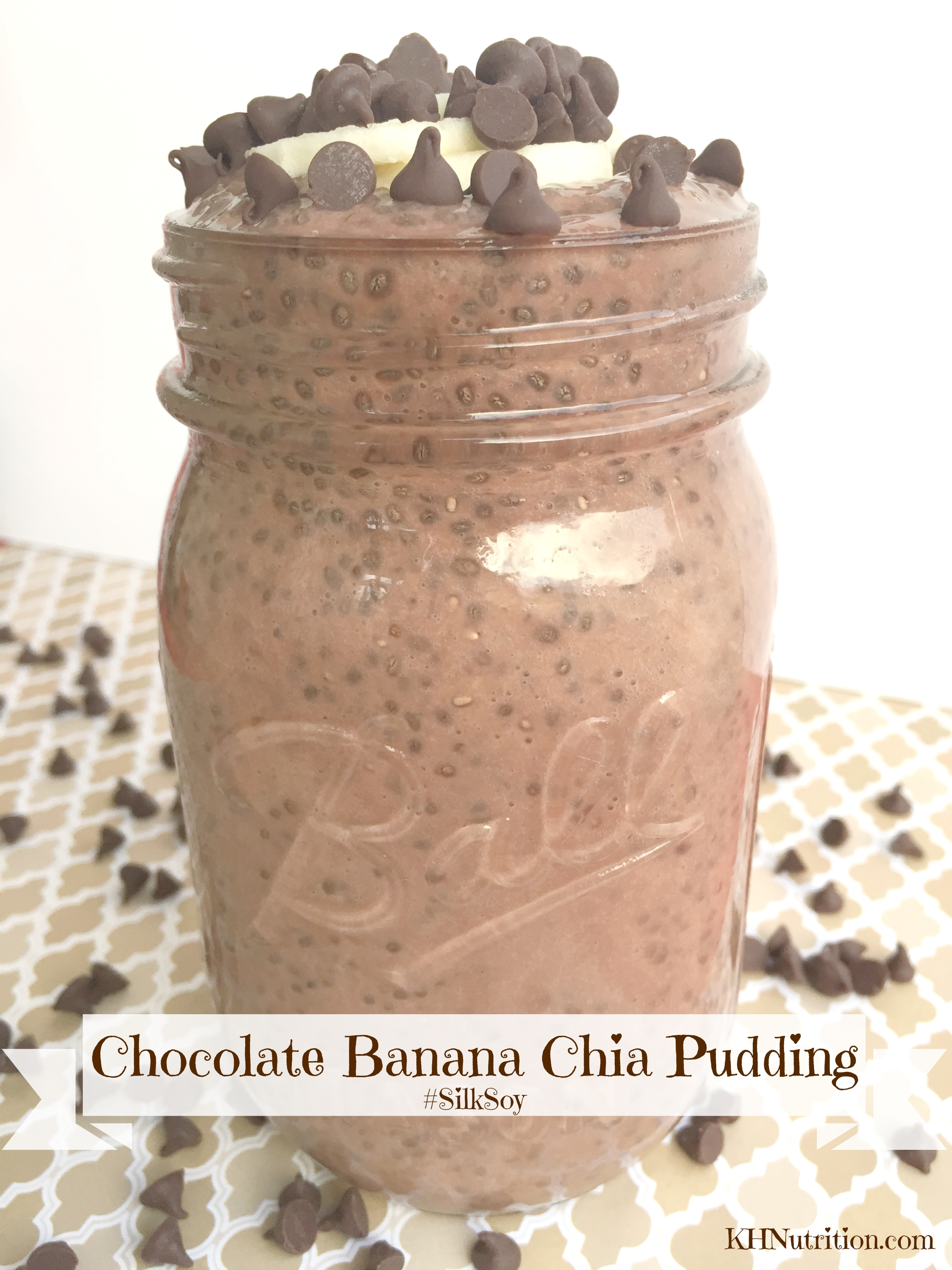 Chocolate Banana Chia Pudding with #SilkSoy! #fitfluential @LoveMySilk