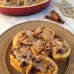 Sweet Potato Cinnamon Rolls with Nut Butter Icing