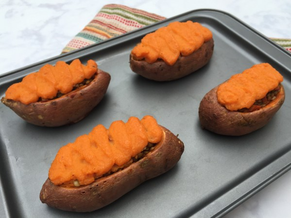 Sweet Potato Shep Pie Tray