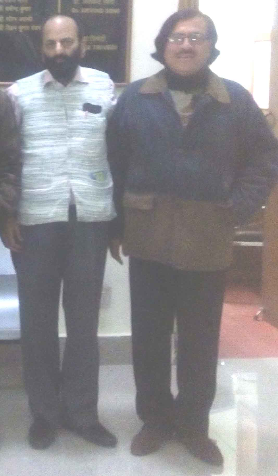 Anjum Barabankavi right with muslim saleem at Akashani on December 28, 2016