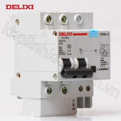 Aptomat chống giật Delixi DZ47LE-2P-32A