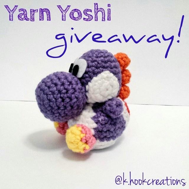 Custom Yarn Yoshi Amiibo And Giveaway K Hook Creations