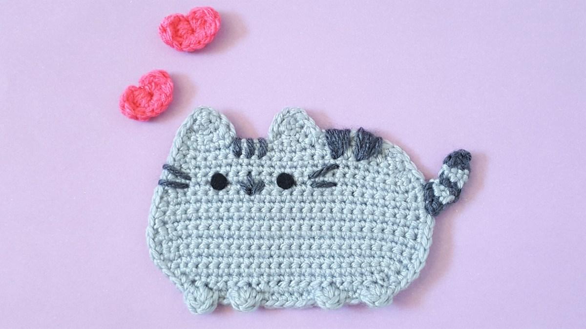 Fat cat applique pattern u2013 k hook creations