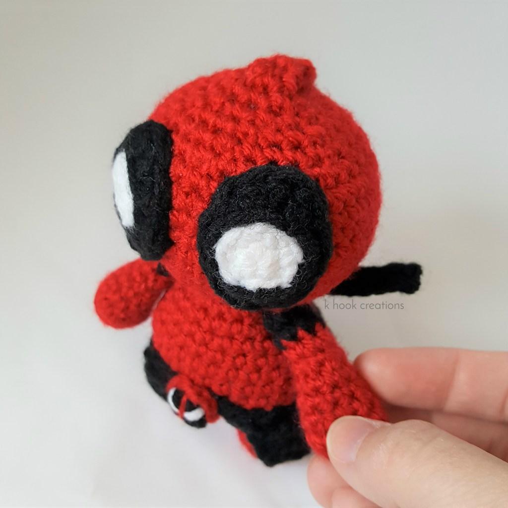 Deadpool Crochet pattern PDF Amigurumi superheroes Comics inspired ... | 1024x1024