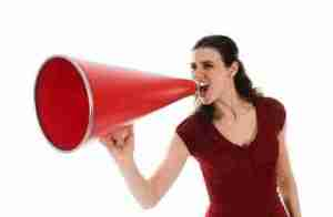 Woman and Megaphone