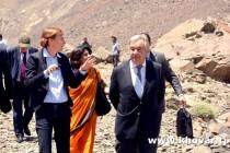 Фоторепортаж корреспондента НИАТ «Ховар» из поездки Генерального секретаря ООН в ГБАО