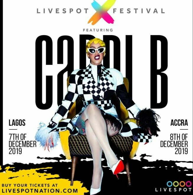 Cardi B storms Lagos and Accra in December