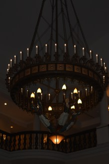 Front chandelier of chateau
