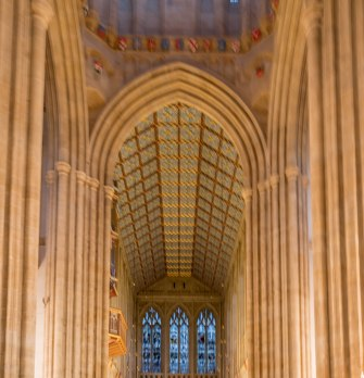 Aisle view of the celing
