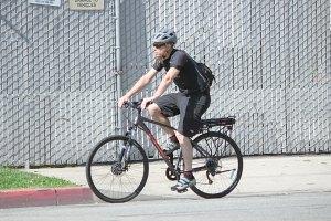 City rider on a KHS e Bike