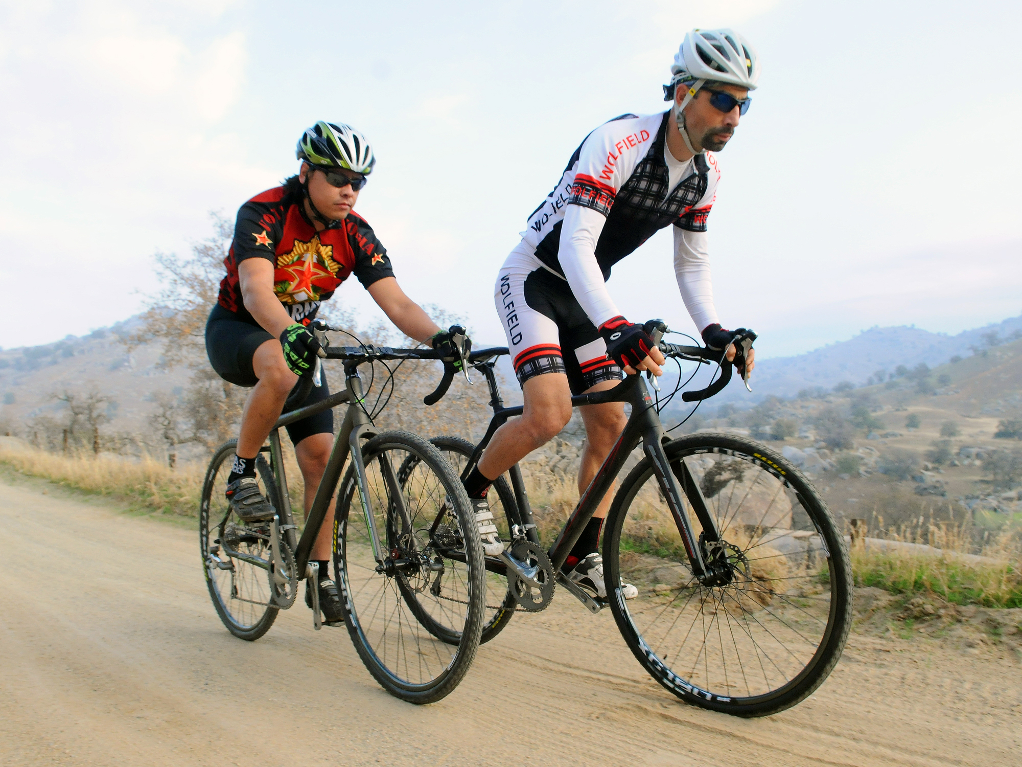 A Pair of Riders in the Gravel riding KHS Grit bicycles models