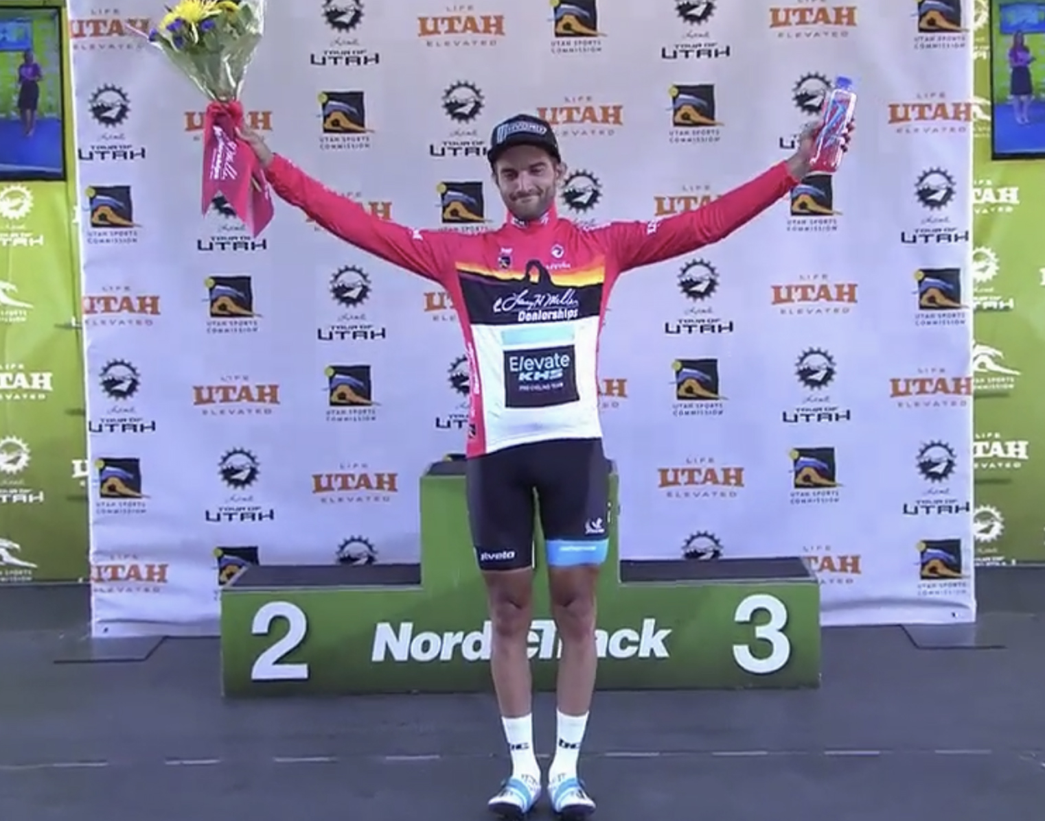 James on the Tour of Utah podium