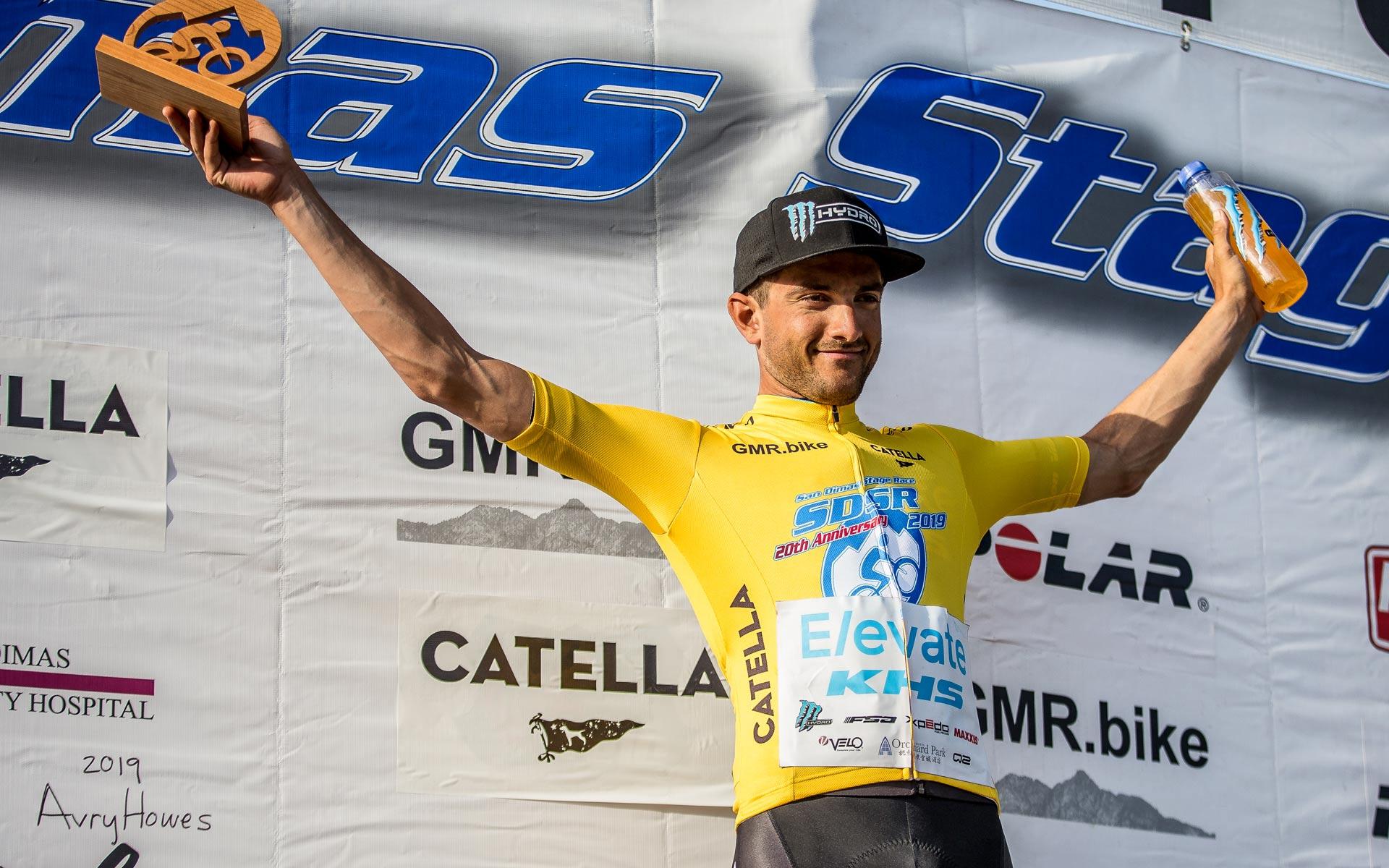 KHS Yellow Jersey on the winner's podium