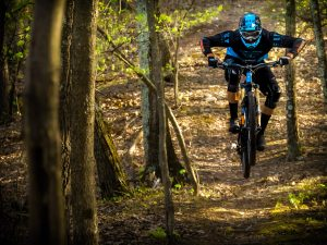 KHS Pro MTB team rider Seamus Powell riding.