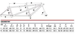 2021 KHS Bicycles Tandem Sport geometry