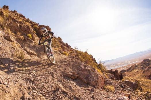 KHS Pro MTB team rider Kailey Skelton racing at the Nevada State Championship at Bootleg canyon.