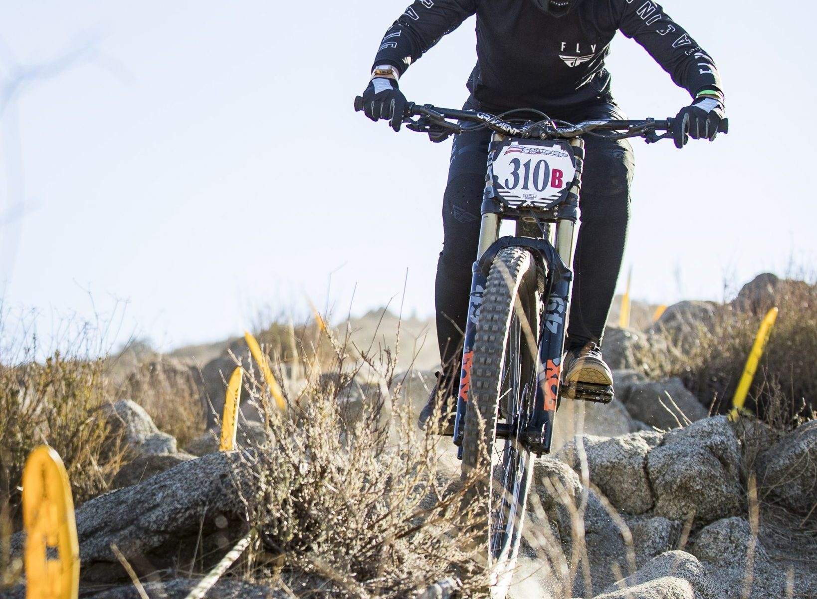 KHS Pro MTB team's Kailey Skelton on the dirt for her rae run at round one of the 2021 Southridge Winter series. Photo by: Chris Hausen