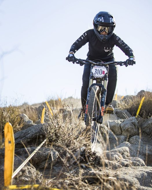 KHS Pro MTB team's Kailey Skelton on the dirt for her rae run at...<br srcset=