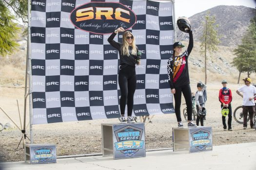 KHS Pro MTB team's Kailey Skelton taking first place at round one of the 2021 Southridge Winter series. Photo by: Chris Hausen