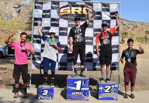 KHS Pro MTB riders Nik Nestoroff and Steven Walton going 1 and 2 in Fontana at the final round of Enduro at the Southridge Winter Series.