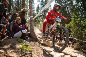 KHS Pro MTB rider Steven Walton race run at the 2021 US Nationals in Winter Park Colorado.