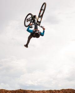 KHS Pro MTB rider Luke Whitlock riding the freeride jumps at the Landslide Music Fest in Cedar City Utah