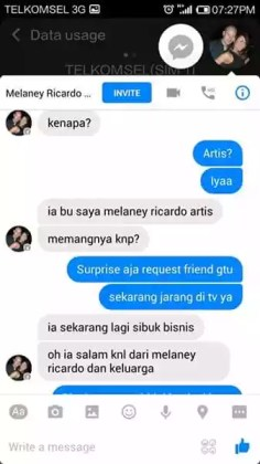 aksi chat melanie palsu terkait pedofil