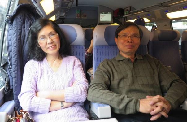 Train from Paris to Strasbourg - DaMinh, Luan