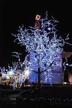 With such beautiful lights everything looks Christmassy