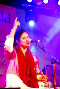 """The amazing Zila Khan performing at """"An Evening of Sufi Rock"""" at D.P.S Whitefield in Bangalore"""