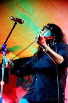 Lead Vocalist for Agam - Harish Sivaramakrishnan - showing his talents on the Violin