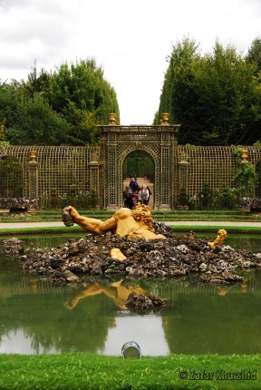 The beautiful Encelade Grove in the palace gardens in Versailles