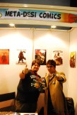 Doctor No. 11 (and 12) endorsing Ground Zero Vol. II at the Meta Desi booth